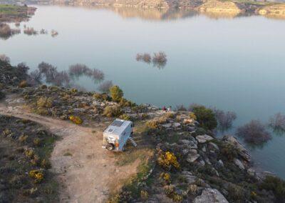 Rio Ebro Camping Wildcamping Freistehplätze Spanien
