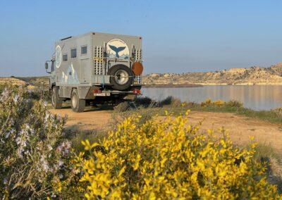 Freistehplätze Camping Spanien mit dem Expeditionsmobil
