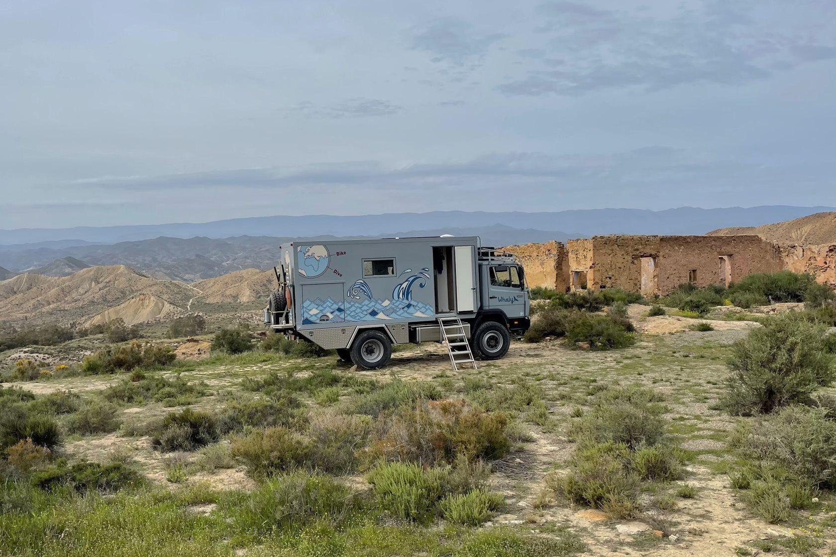 Tabernas Wüste Übernachtung Whaly Expeditionsmobil
